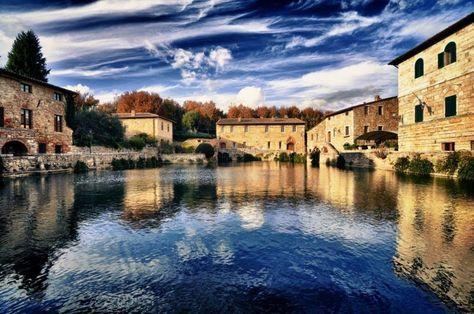 Borgo di Bagno Vignoni in Toscana
